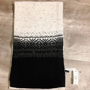 Talbots wool blend scarf with beadwork